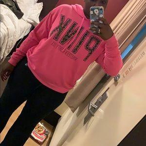 Oversized Victoria Secret PINK pink hoodie